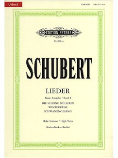 Franz Schubert: Lieder Volume 1 - High Voice (Edition Peters Urtext) Books | High Voice, Piano Accompaniment