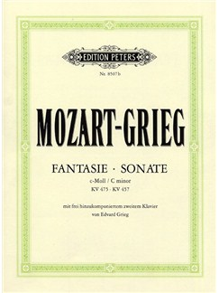 W.A. Mozart/Edvard Grieg: Fantasie And Sonata In C Minor KV 475/457 Books | Piano Duet
