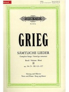 Edvard Grieg: Samliche Lieder Band II Books | Voice, Piano