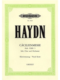 Franz Joseph Haydn: Cacilienmesse Hob.XXII (Vocal Score) Books | SATB, Piano Accompaniment