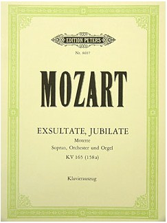W.A. Mozart: Exsultate Jubilate K.165 (Vocal Score) Books | Soprano, Organ Accompaniment