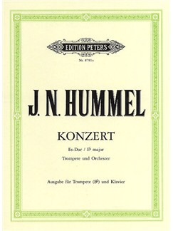 Johann Nepomuk Hummel: Concerto For Trumpet And Orchestra In E Flat (Trumpet In B Flat/Piano) Books | Trumpet, Piano Accompaniment