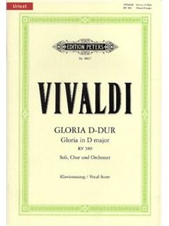 Antonio Vivaldi: Gloria In D RV 589 - Vocal Score (Edition Peters Urtext) Books | SATB, Piano Accompaniment