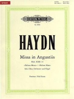Franz Joseph Haydn: Nelson Mass (Missa In Angustiis) Hob.XXII/11 - Full Score (Edition Peters Urtext) Books | SATB, Orchestra