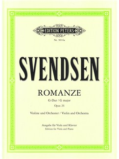 Johan Svendsen: Violin Romance - Viola/Piano Books | Viola, Piano Accompaniment