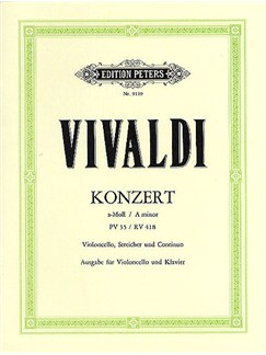 Antonio Vivaldi: Concerto In A Minor Rv.418 Books | Cello, Piano Accompaniment