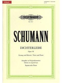 Robert Schumann: Dichterliebe Op.48 (Edition Peters Urtext) Books | Voice, Piano Accompaniment, Tenor, Baritone Voice