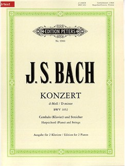 J.S. Bach: Keyboard Concerto In D Minor BWV1052 (Piano Duet Arrangement) Books | Piano Duet