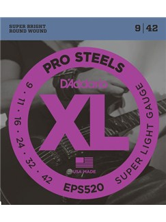 D'Addario: EPS520 ProSteels, Super Light, 9-42  | Electric Guitar
