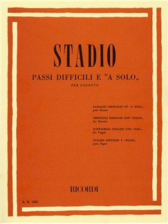 Ciro Stadio: Passi Difficili E 'A Solo' Books | Bassoon