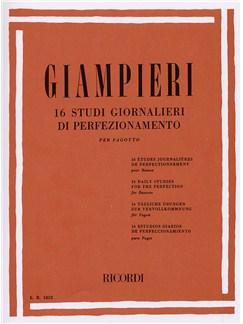 Alamiro Giampieri: 16 Studi Giornalieri Di Perfezionamento (Bassoon) Books   Bassoon