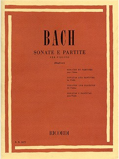 J.S. Bach: Sonatas And Partitas For Violin Books | Violin