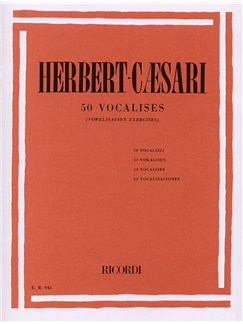 Edgar Herbert-Caesari: 50 Vocalises (Vowelisation Exercises) Books | Voice, Piano Accompaniment