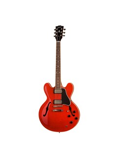 Gibson: ES-335 Dot Reissue Plain Maple Satin (Red/Chrome Hardware) Instruments | Semi-Acoustic Guitar