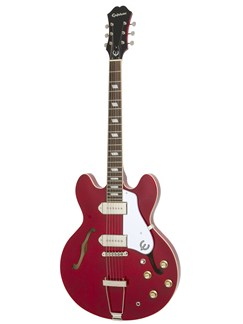 Epiphone: Casino (Cherry/Chrome Hardware) Instruments | Semi-Acoustic Guitar