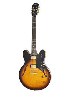 Epiphone: Dot Deluxe (Vintage Sunburst) Instruments | Semi-Acoustic Guitar