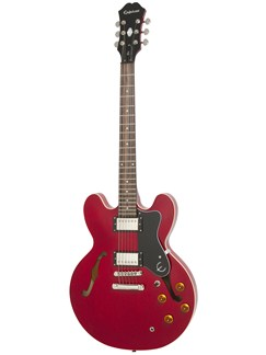 Epiphone: Dot (Cherry/Chrome Hardware) Instruments | Semi-Acoustic Guitar