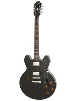 Epiphone: Dot (Ebony/Chrome Hardware) Instruments | Semi-Acoustic Guitar