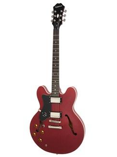 Epiphone: Dot Left-Handed (Cherry/Chrome Hardware) Instruments | Semi-Acoustic Guitar