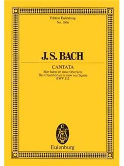 J.S. Bach: Cantata BWV 212 (Eulenburg Miniature Score) Books | Soprano, Bass Voice, Orchestra