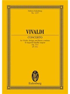 Antonio Vivaldi: Violin Concerto In D Major Op. 7 No. 11 RV 208 / PV 151 Books | Violin, String Instruments, Continuo