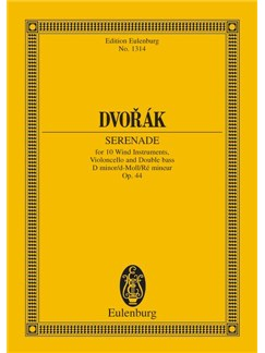 Antonín Dvorák: Serenade In D Minor Op. 44 B 77 Books | Wind Ensemble, Cello, Double Bass