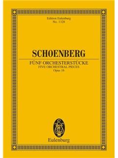 Arnold Schoenberg: Funf Orchesterstucke Op.16 (Eulenburg Miniature Score) Books | Orchestra