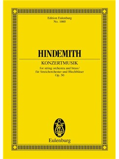 Paul Hindemith: Konzertmusik Op. 50 Books | String Orchestra, Brass Ensemble
