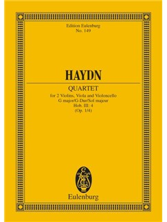 Joseph Haydn: Quartet In G Major Hob.III:4 Op. 1/4 Books | String Quartet