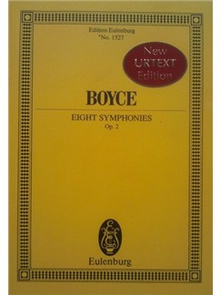 William Boyce: 8 Symphonies Op. 2 (New Urtext Edition) Books | Orchestra