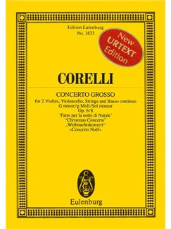 Arcangelo Corelli: Concerto Grosso In G Minor Op.6 No.8 (Eulenburg Miniature Score) Books | Chamber String Orchestra