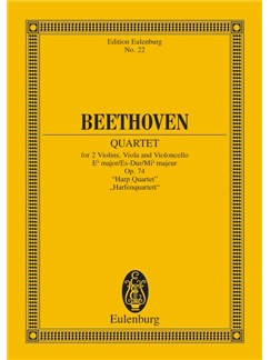 Beethoven: String Quartet In E Flat Op.74 (Eulenburg Miniature Score) Books | String Quartet