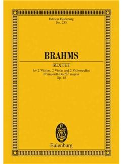 Johannes Brahms: String Sextet No.1 In B Flat Op.18 Books   2 Violins, 2 Violas, 2 Cellos