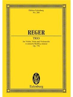 Max Reger: String Trio In A Minor Op.77b (Eulenburg Miniature Score) Books | Violin, Viola, Cello