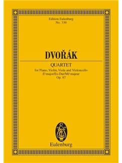 Antonín Dvorák: Piano Quartet In E Flat Major Op. 87 B 162 Books | Piano, Violin, Viola, Cello