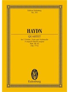 Joseph Haydn: String Quartet In F Major Op. 77 No. 2 Hob. III: 82 Books | String Quartet