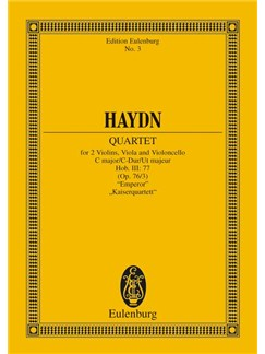 Franz Joseph Haydn: String Quartet In C 'Emperor' (Eulenburg Miniature Score) Books | String Quartet