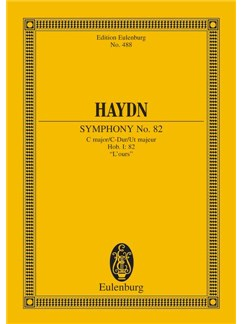 "Joseph Haydn: Symphony No. 82 C Major ""L'Ours"" Hob. I: 82 Books   Orchestra"