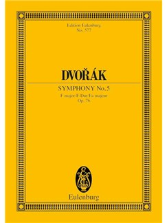 Antonín Dvorák: Symphony No. 5 In F Major Op. 76 B 54 Books | Orchestra