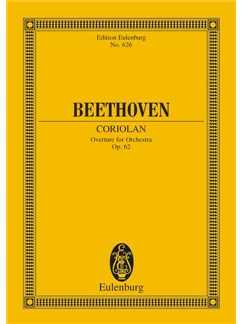 Ludwig Van Beethoven: Coriolan Overture Op.62 (Eulenburg Minature Score) Books | Orchestra