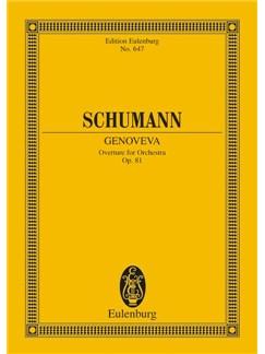 Robert Schumann: Genoveva Overture Op.81 (Eulenburg Miniature Score) Books | Orchestra
