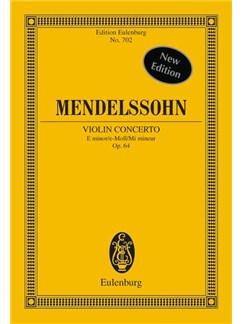 Felix Mendelssohn: Violin Concerto In E Minor Op.64 (Eulenburg Miniature Score) Books   Violin, Orchestra