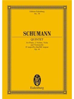 Robert Schumann: Piano Quintet In E Flat Op.4 (Eulenburg Miniature Score) Books | Piano Chamber