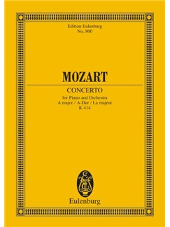 W.A. Mozart: Piano Concerto No.12 In A Major K.414 Books | Piano, Orchestra