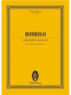 Joaquin Rodrigo: Concierto Andaluz (Eulenburg Miniature Score) Books | Guitar (Quartet), Orchestra