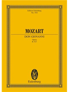 W.A. Mozart: Don Giovanni Opera K. 527 (Study Score) Books | Opera, Orchestra