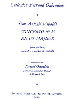 Antonio Vivaldi: Concerto N°23, En Ut Majeur Books | Guitar, Piano Accompaniment