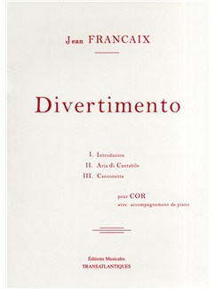 Jean Francaix: Divertimento Books | French Horn, Piano Accompaniment