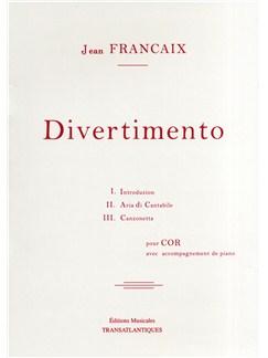 Jean Francaix: Divertimento Livre | Cor, Accompagnement Piano