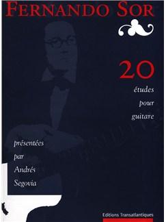 Fernando Sor: 20 Études Livre | Guitare
